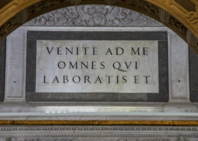 The Chapel of Saint Anthony, marble inscription